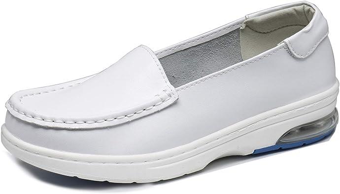 XIPAI Womens White Nursing Shoes Non