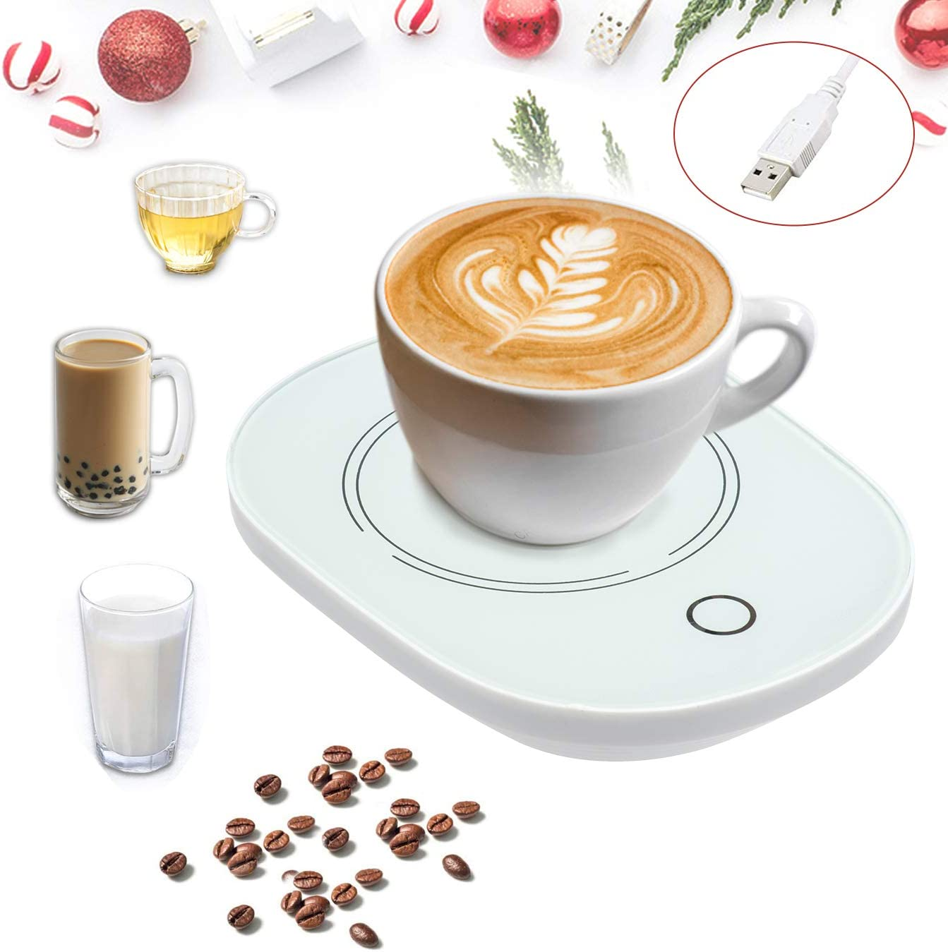 USB Coffee Cup Mug Warmer for Desk with Auto Shut Off,Coffee Mug Warmer USB for Desk Office Home