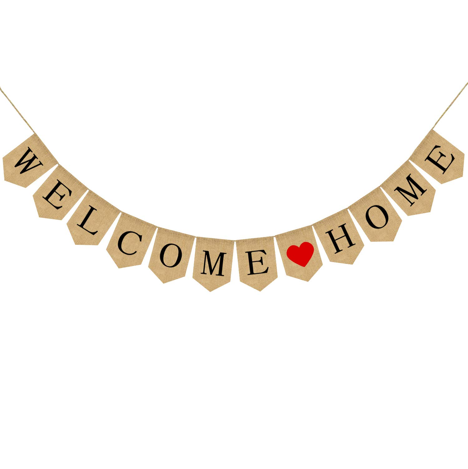 Burlap Welcome Home Banner | Welcome Home Sign | Housewarming Banner | Military Homecoming | Party Decoration Supplies