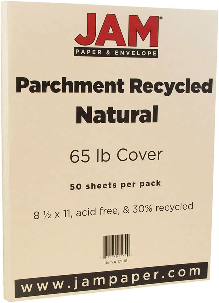 50 Gray Parchment 65lb Cover Weight Paper Photo Card Frame Size 4X6 Inches 4 X 6 Printable Cardstock Colored Sheets Old Parchment Semblance