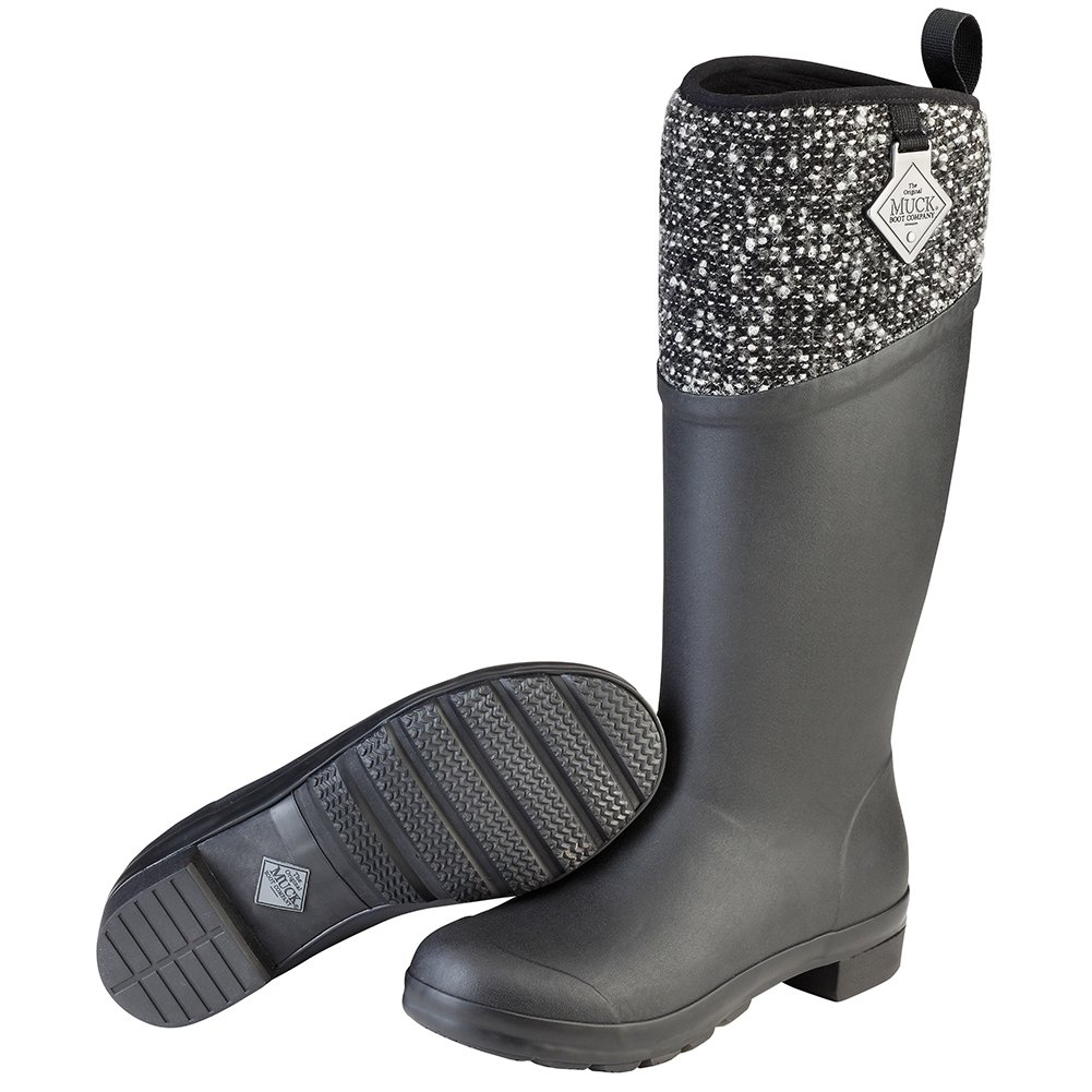 Muck Boot Women's Tremont Supreme Work Boot, Black/Silver, 7 M US