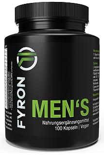 FYRON MENs: Rendimiento + Esperma + Testosterona + 100 cápsulas