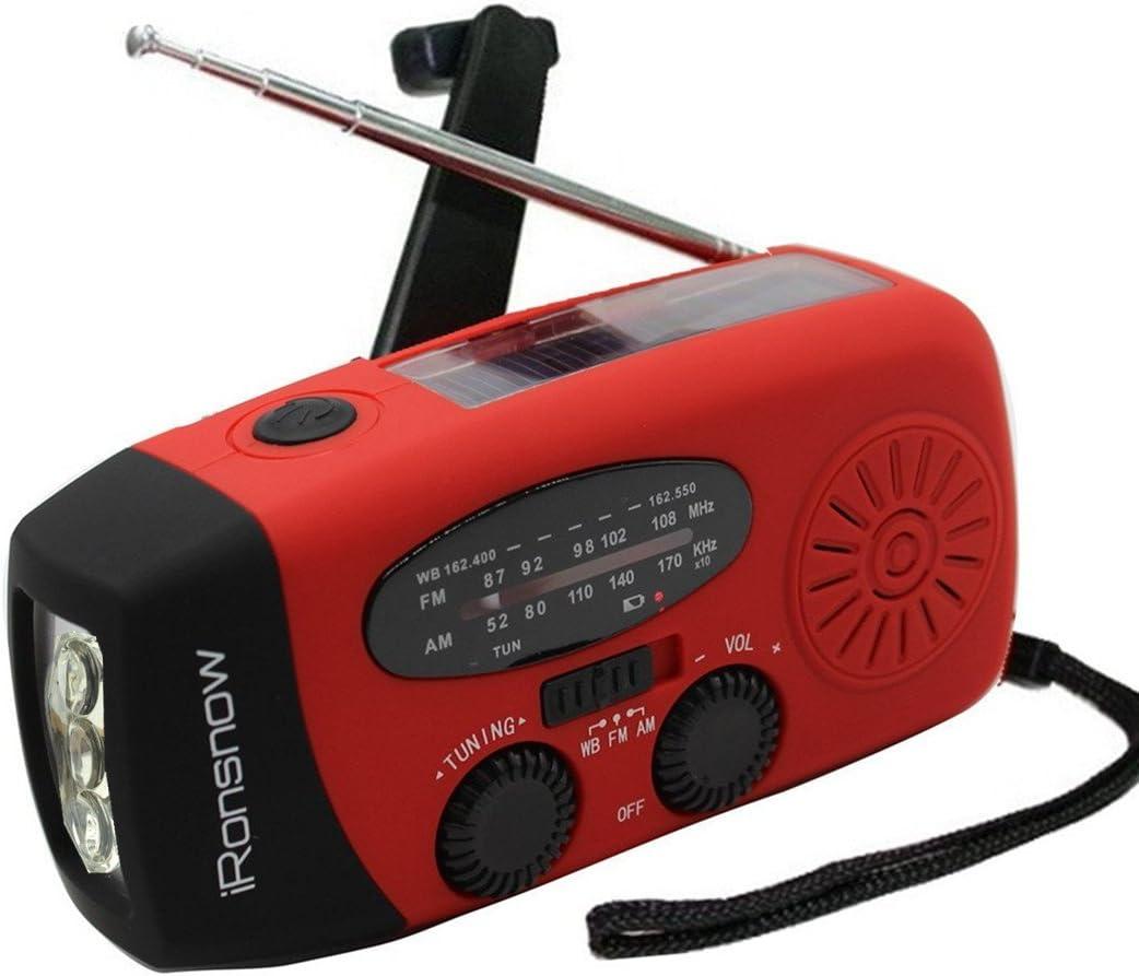 iRonsnow Solar NOAA Weather Emergency survival radio communications systems