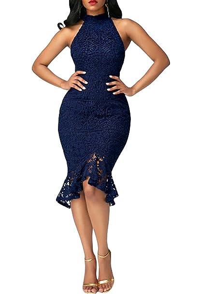Minetom Vestido De Noche Para Mujer De Los Años 50s Con O Cuello Atractivo Elegante Retro