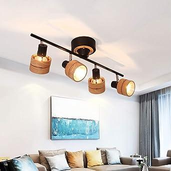 schwarze Wohn Schlaf Zimmer Strahler verstellbare Decken Leuchten Küchen Lampen