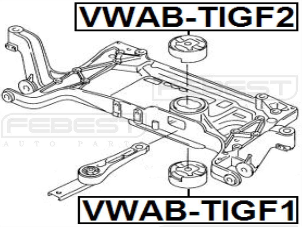 FEBEST VWAB-TIGF1 Body Bushing