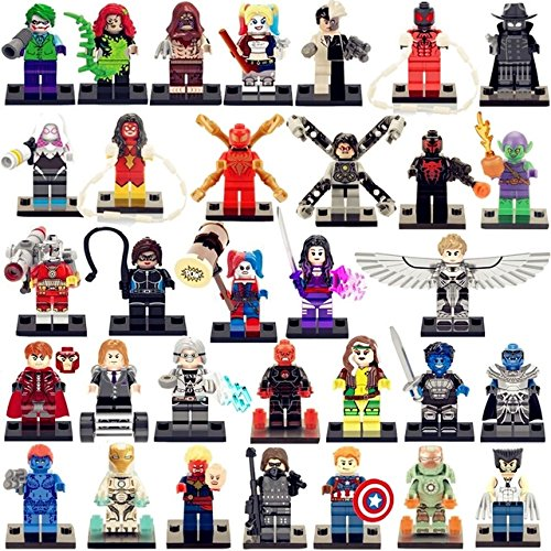 NW 32 Pcs/lot Marvel Super Heroes Minifigures The Avengers Building Blocks Action Figures Sets Model Bricks Toys Within Sticker collection from NW Store(Without Original Box)