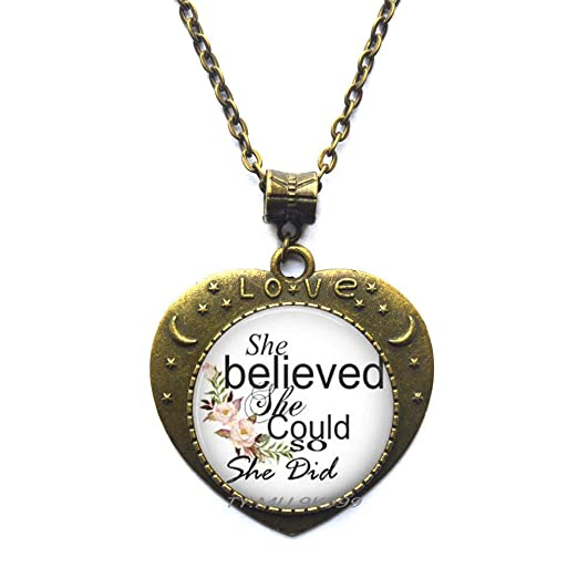 She Believed She Could So She Do Collar Con Frases Para