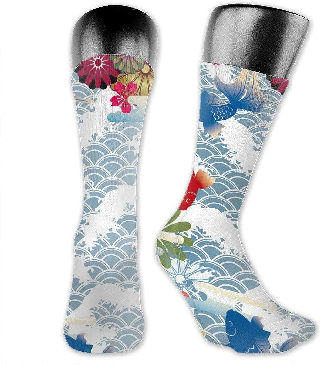 Koi FishFashion Athletic Socks Knee High Socks For Men/&Women All Sport Holiday