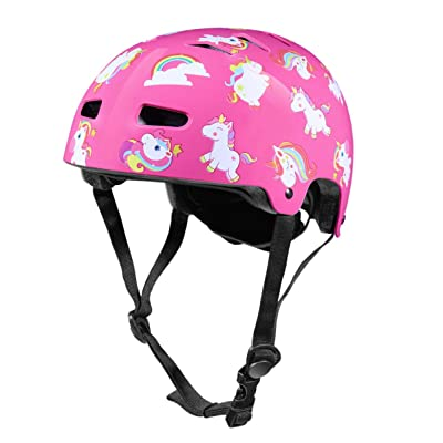 CLISPEED Kids Helmet Adjustable Children Head Protector Head Guard Protective Gear for Skating Cycling Scooter Pink : Sports & Outdoors