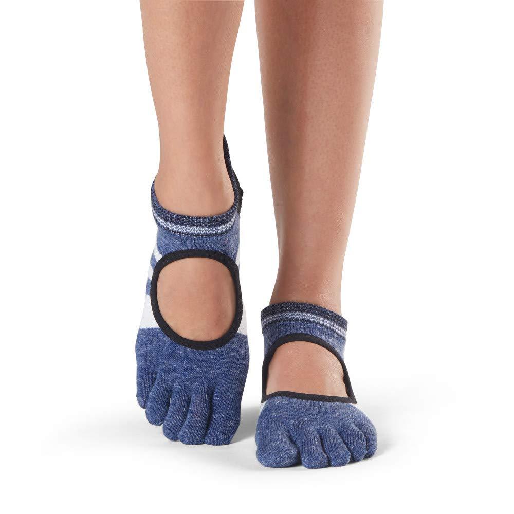 toesox Grip Pilates Barre Socks Non-Slip Bellarina Full Toe Yoga /& Ballet