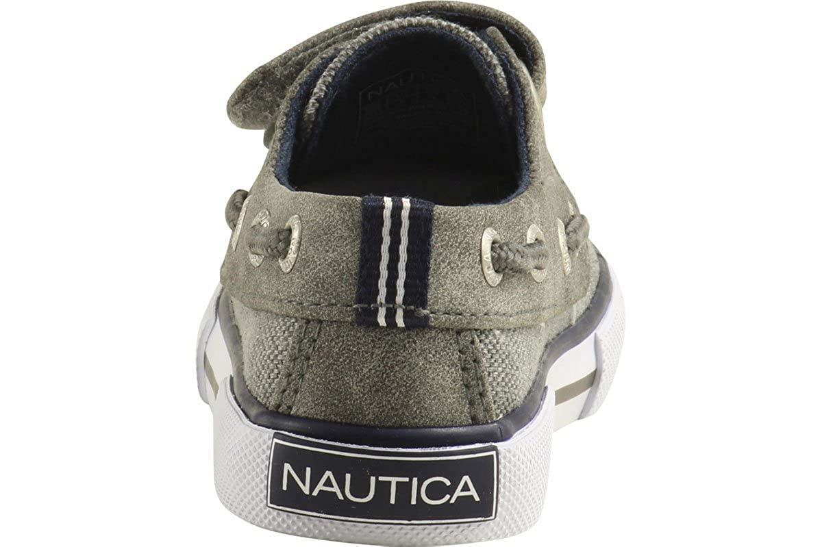 Nautica Toddler//Little Boys Little River-2 Grey Mix Loafers Boat Shoes