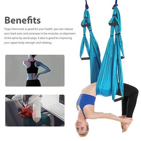 HEEGNPD Yoga antigravedad aérea Hamaca Set Yoga Cinturón de ...
