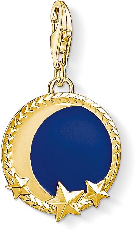 Thomas Sabo para mujer 925 plata encanto Luna Y Estrellas De Oro Amarillo Club..