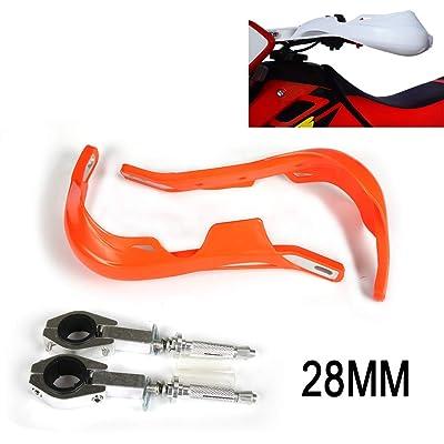 "Motorcycle 28mm 1 1/8"" Handguards Universal Hand Guards For dirt pit bike ATV KTM EXC EXCF SX SXF SXS MXC MX XC XCW XCF XCFW EGS LC4 Enduro Motocross (Orange): Automotive"