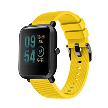 Correa Diadia para reloj deportivo Huami Amazfit Bip Youth de silicona, suave, amarillo: Amazon.es: Deportes y aire libre