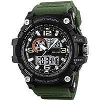 Skmei Analogue-Digital Military Green Strap Men's & Boy's Watch - 1283