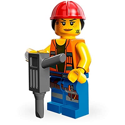 LEGO The Movie Gail The Construction Worker Minifigure Series 71004: Toys & Games