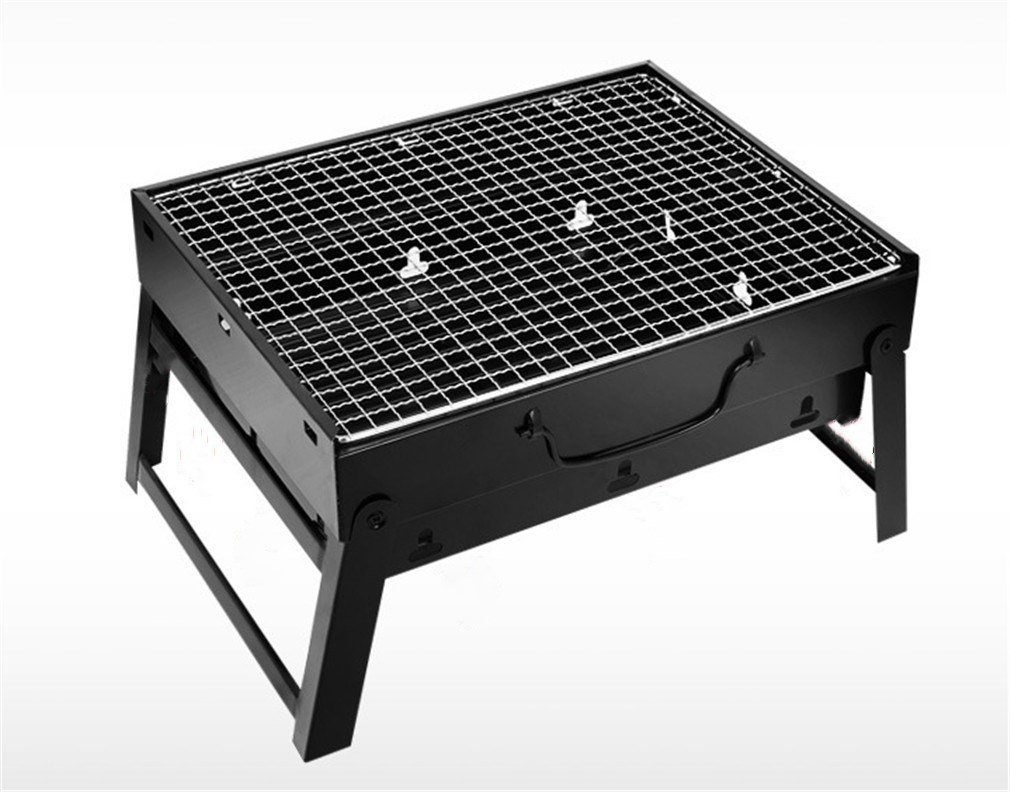 CLODY Outdoor Smoker Portable Charcoal Barbecue Furnace Thickening Household Full Set Of Barbecue Tools Folding Stainless