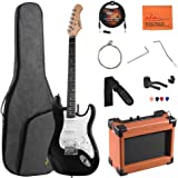 ADM Electric Guitar Beginner Kit 39 Inch Full Size Guitar Package with Amplifier