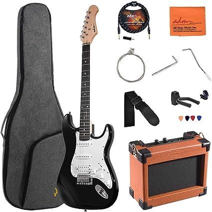 ADM Kit de guitarra eléctrica para principiantes, 39 pulgadas ...