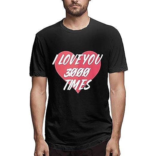 f24d3b3e Amazon.com: Nuewofally Mens T Shirt I Love You 3000 Times Shirt Fashion  Short Sleeve Tee Casual Avengers Endgame Shirt Blouse: Clothing