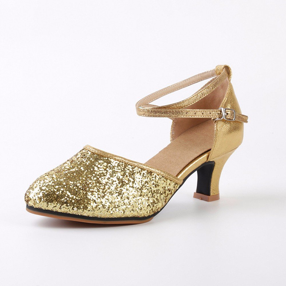 marron US6 EU36 UK4 CN36 Masocking@ Femme Chaussures de Danse Sandales Rhinestoneing à talons hauts Chaussures de danse hasp
