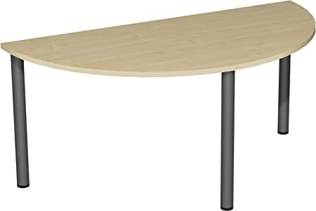 Round Conference Table Base Half Circle Fixed Height XX - Half circle conference table