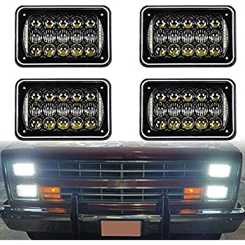 Amazon Com 2017 Dot Approved 60w 4x6 Inch Led Headlights