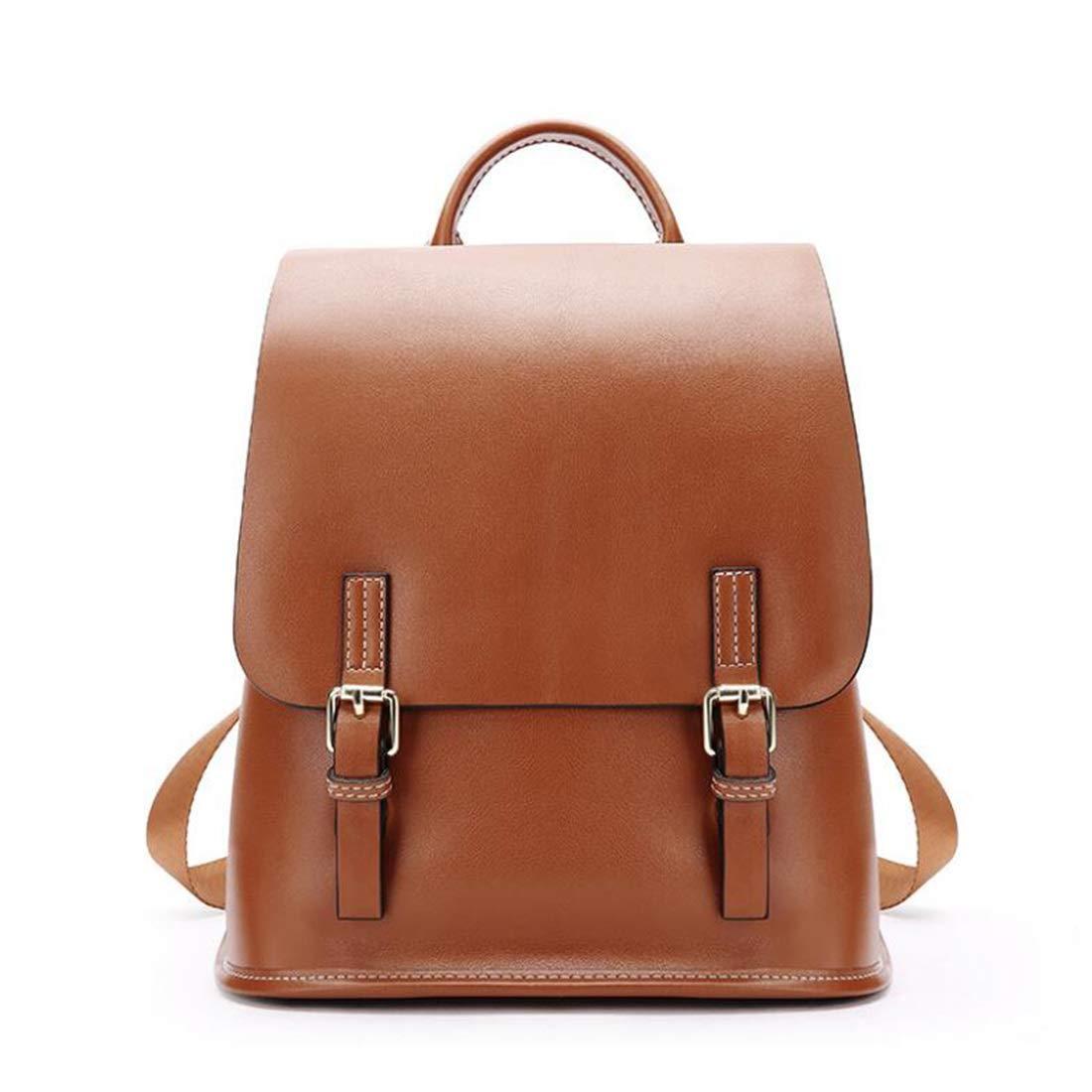 WEATLY WEATLY WEATLY Damen Leder Rucksack Casual Rucksäcke Daypack für Damen Reise Schule (Farbe   schwarz) B07MTVY45F Daypacks Viele Stile 08fd83