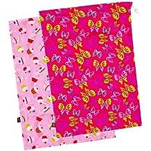 "Kushies ""On The Go"" 2-Pack Wet Bag, Large, Girl Prints"