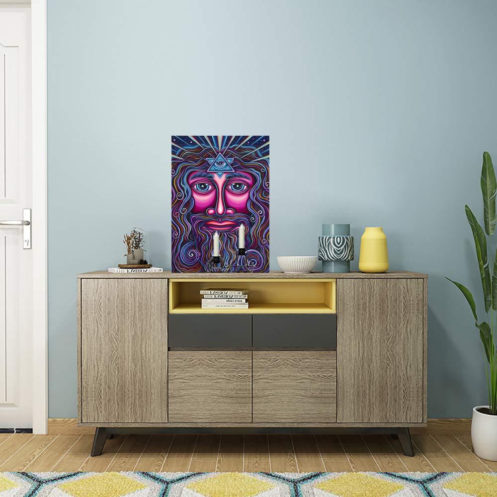 con Marco de Madera ufengke Kit Pintura de Diamantes 5D Elefante Azul Punto de Cruz Diamante Completo DIY para Amantes del Arte Dise/ño 25x35cm