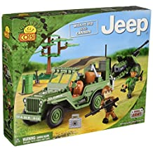 Cobi 24191 COBI Blocks Small Army - Jeep Willys with Cannon Building Kit