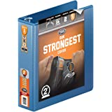 Wilson Jones Heavy Duty Round Ring View Binder with Extra Durable Hinge, 2 Inch, Customizable, PC Blue (W363-44-7462)