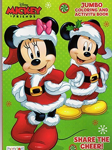 Christmas Holiday - Disney Mickey Mouse and Friends Jumbo Coloring and Activity Book - Share the Cheer!