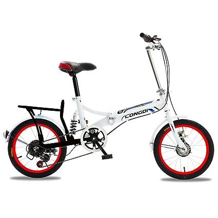 XQ 1615URE Bicicleta Plegable de 16 Pulgadas Adultos Bicicleta Plegable de 6 Velocidades Variables Ultraligero Amortiguación