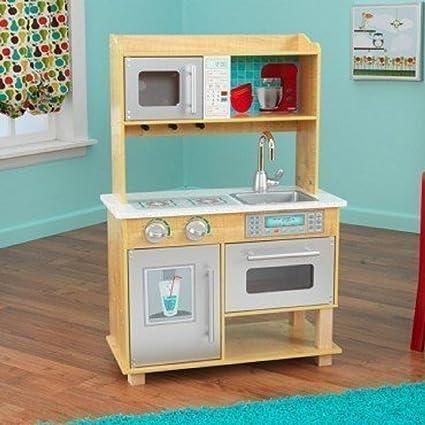 Amazon Com Kidkraft Natural Toddler Kitchen Toys Games