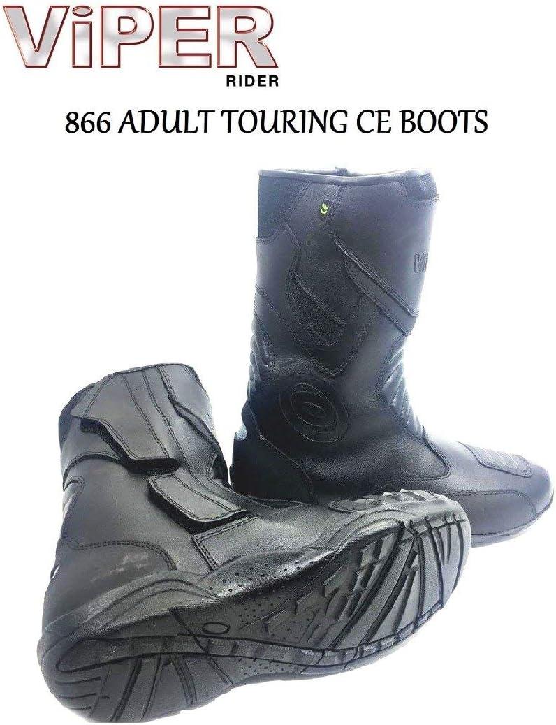 ViPER 866 ADULT TOURING BOOTS moto viper 866 adulte Bottes Touring Moto HOMMES /& FEMMES imperm/éable renforc/é Cheville Sport Racing quad Homologu/é CE Bottes longues