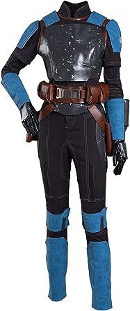 The Mandalorian S2 Bo-Katan Kryze Cosplay Costume Top Vest Pants Outfits Suit