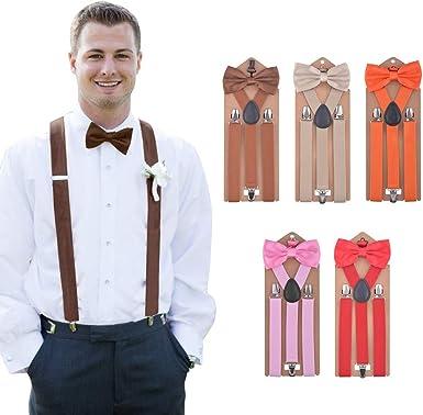 Hivexagon Juego de Tirantes y Pajaritas Elásticas para Hombre Diseñadas con la Espalda en Forma de Y en 5 Colores BT086: Amazon.es: Ropa y accesorios