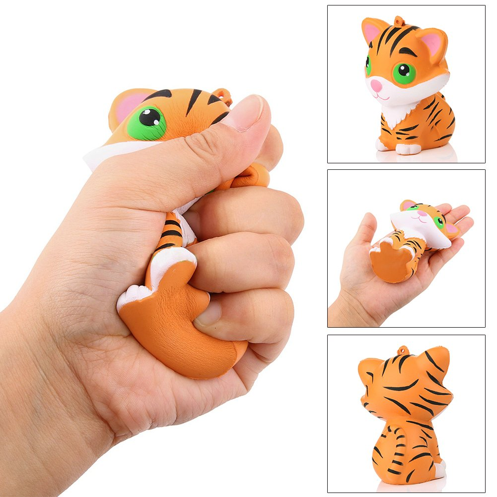 BrawljRORty Toys, Simulated Tiger Slow Rising Kids Children Squeeze Toys Stress Reliever