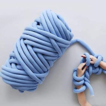 Qlvy Mehrfarbig Wolle Garn Super Soft Bulky Arm Stricken Wolle Roving Hakeln Diy Hand Chunky Strickdecke