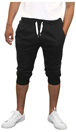 e55803ea0822 Amazon.com  True Rock Men s Textured Panel Capri Pants Joggers  Clothing