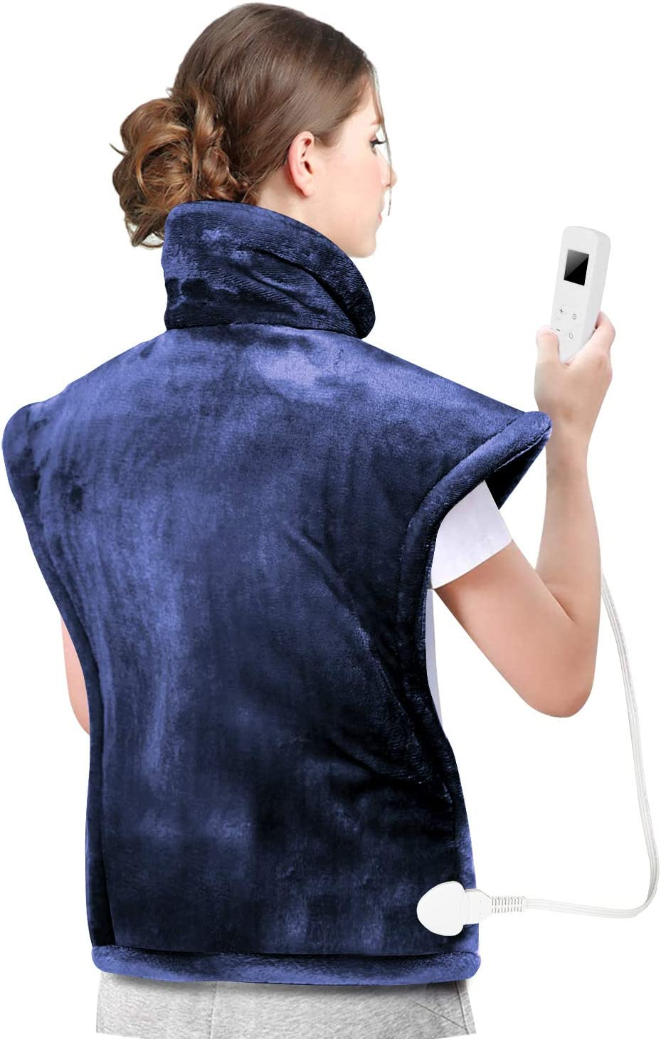 Hangsun Heating Pad for Back Pain and Cramps Relief Electric Heat Pads TP600 Neck and Shoulder Wrap with 6 Temperature and 3 Auto-Off Timer Settings, Overheating Protection - Extra Large 33