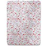 Love Confessions In School Fitted Sheet: King Luxury Microfiber, Soft, Breathable