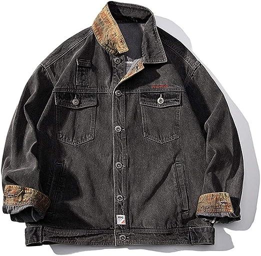 メンズデニムジャケットを印刷し、バイカージャケットスリムフィットヴィンテージフィットスリムフィットパーカースタンドカラー付き