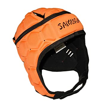 Samurai contorno Elite-Casco protector de rugby [naranja], color naranja, tamaño