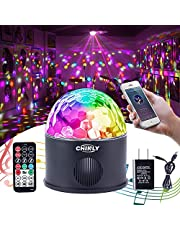 Bluetooth Disco Ball Light MP3 Music Bluetooth Speaker USB Portable 9W 9color Modes Dance Hall Strobe Light Mini LED Stage Light Party Light Rotating Lighting Effect for Wedding Party Bar Club DJ KTV (with Remote & US Plug)
