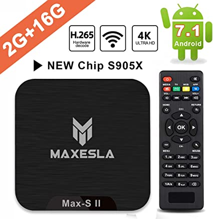 Smart TV Box Android 7.1 - Maxesla MAX-S II Mini TV Box de 2GB RAM +