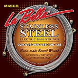 LaBella M45-CB Stainless Steel Round Wound Bass Strings, 6-String, Light 29-128
